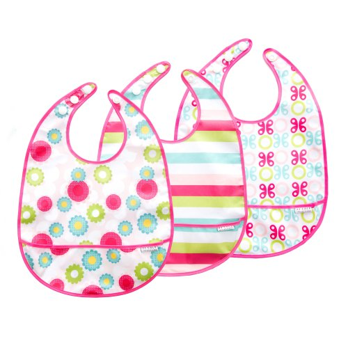 JJ Cole 3 Count Bib Set, Girl Multi-Colored