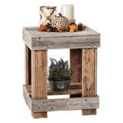 Del Hutson Reclaimed Wood End Table, Multiple Colors