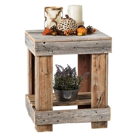 Del Hutson Reclaimed Wood End Table ()