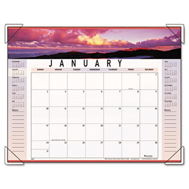 At-A-Glance 89802 Panoramic Landscape Monthly Desk Pad Calendar  22 x 17
