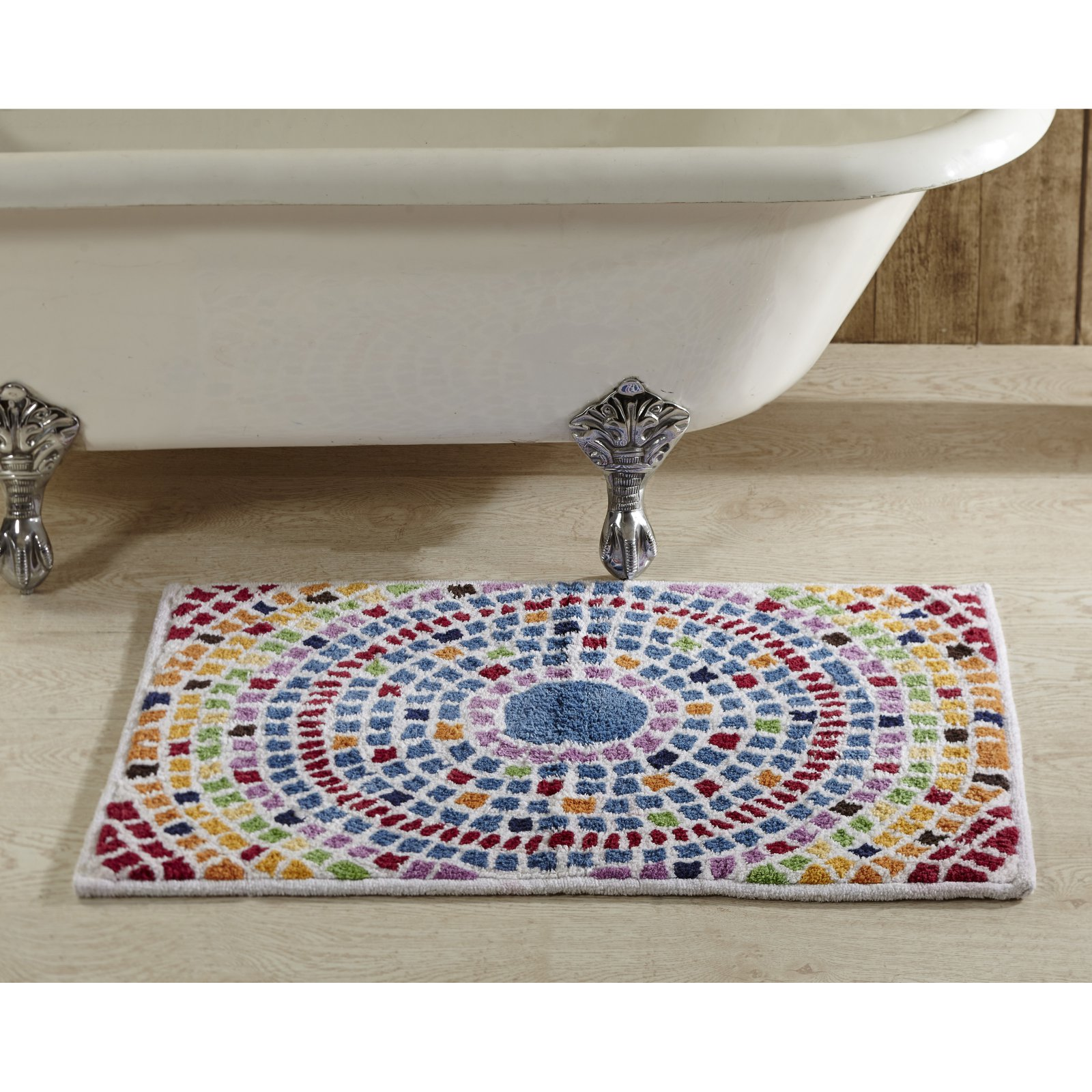 "Picasso Mosaic 30"" x 48"" Bath Rug, Multi"