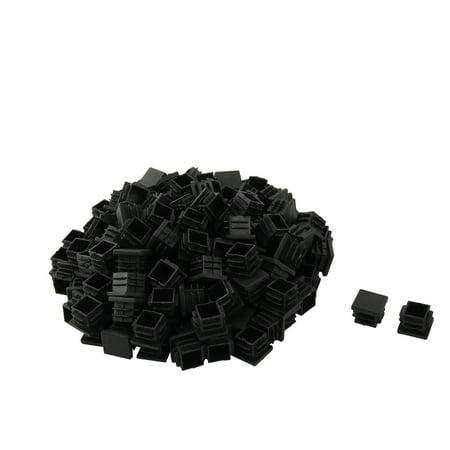 Plastic Square 18mm x 18 mm Anti-slip Chair Foot Cover Table Furniture Leg Protector Black 150 Pcs - image 2 de 2