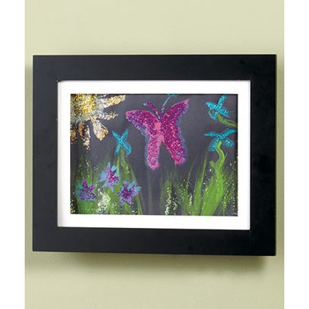 Children Come Frame - Easy Change 9x12 Artwork Frame w/Storage Black Holds 50 Pcs Kid Hanging Art