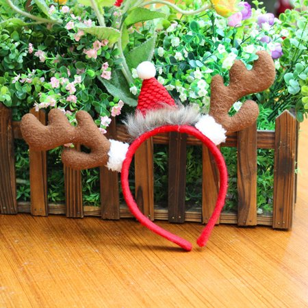 Moderna Kids Adult Reindeer Antlers Deer Horn Headband Christmas Party Costume Hair Band - Adult Headbands