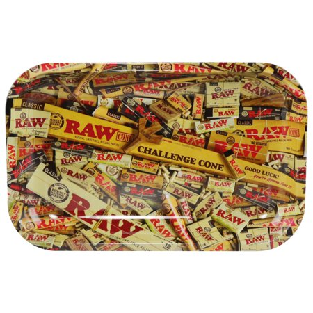Raw Rolling Tray - Rolling Paper Design - Small / 7