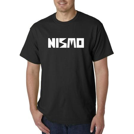 New Way 916 - Unisex T-Shirt Nismo Old School Logo Nissan Motorsports Large Black