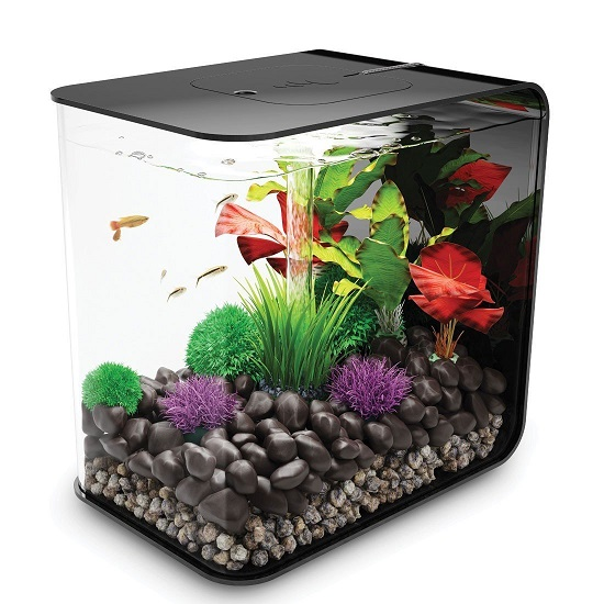 White biOrb FLOW 15 - 4 Gallon Aquarium with LED Lighting