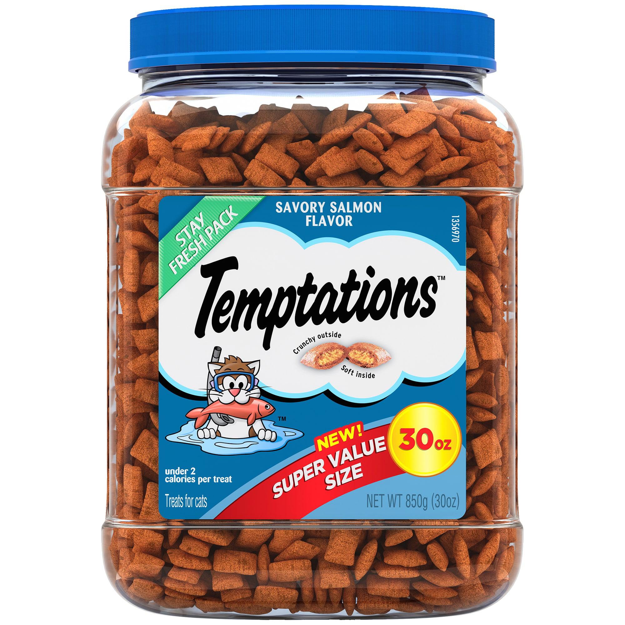 TEMPTATIONS Classic Cat Treats Savory Salmon Flavor, 30 oz. Tub by Mars Petcare