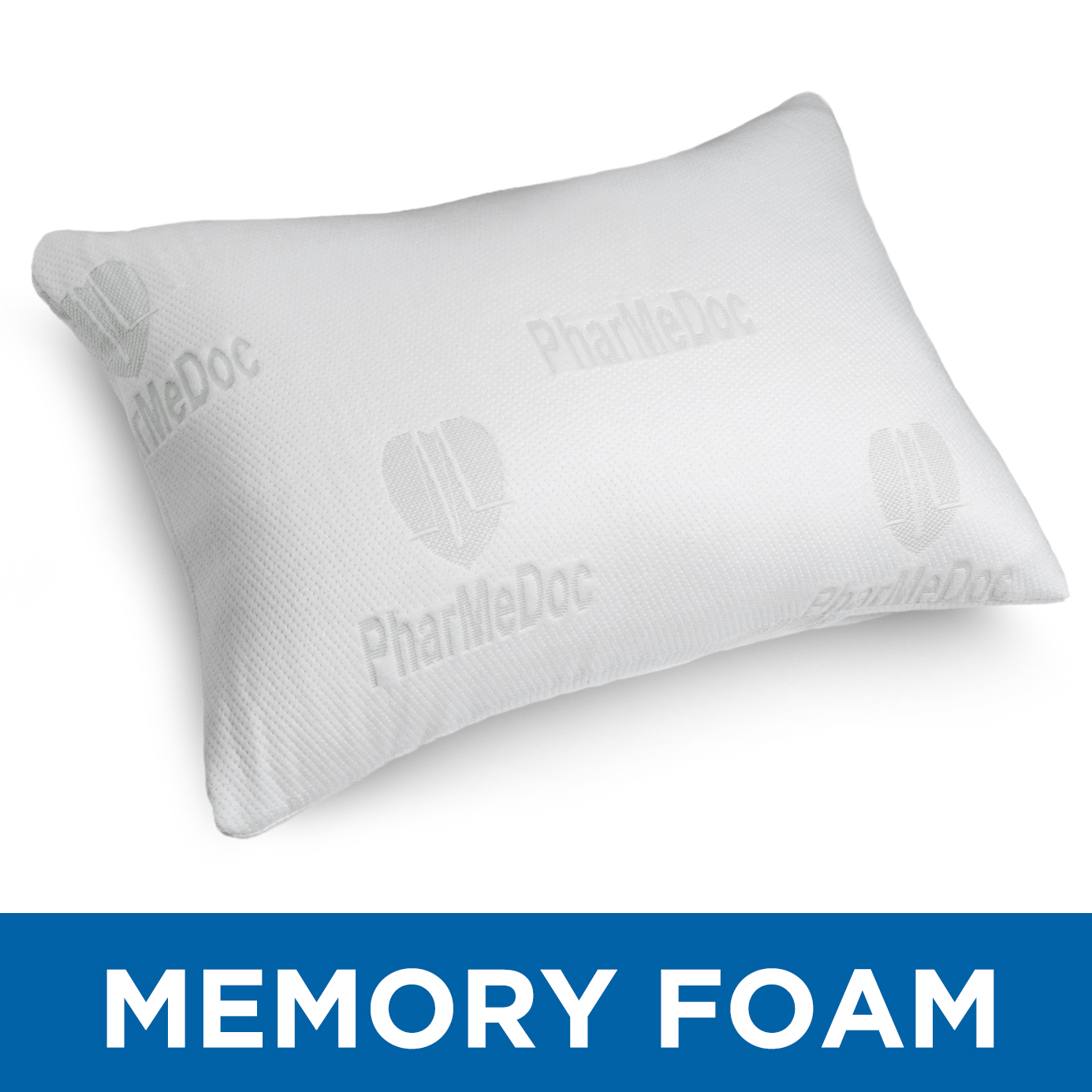 PharMeDoc Shredded Memory Foam Pillow w/ Washable Case - Bed Pillow for Side Sleepers (King Size)