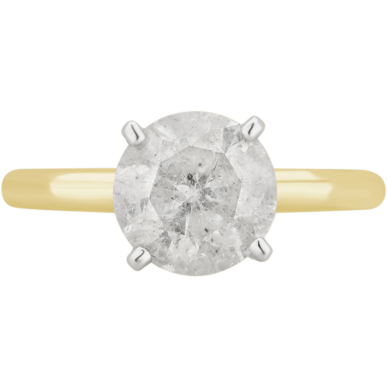 2 1 2 Carat T.W. 18kt Yellow Gold Diamond Solitaire Engagement Ring Comes in a Box by Generic