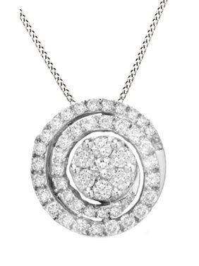 2b4c779ad Product Image White Natural Diamond Swirl Flower Pendant Necklace in 14K  Solid White Gold (3/4. Product TitleJewel Zone USWhite Natural ...
