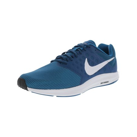 c5d4cd243f22 Nike Men s Downshifter 7 Green Abyss   White-Blue Force Ankle-High Running  Shoe ...