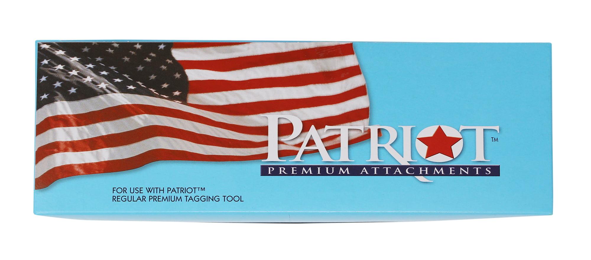 Patriot Clear Standard Tagging Gun Fasteners Tag Refill Regular Barbs 1 inch