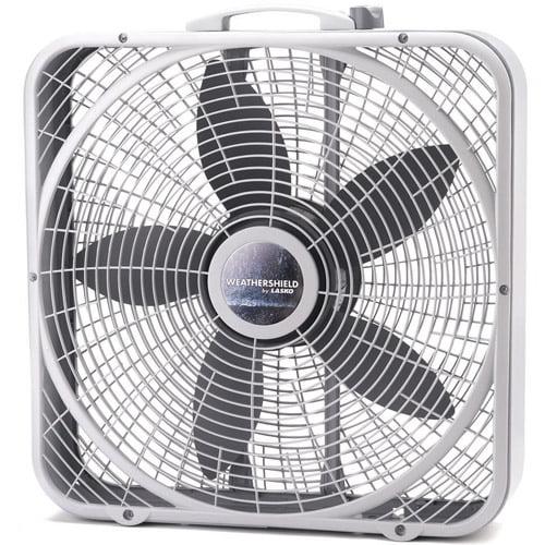 """Lasko 20"""" Performance Weather-Shield Box Fan  B20500"""