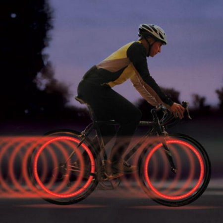 Bicycle Bike Lamp Cycling Wheel Spoke Tire Tyre Lamp LED Light Rainbow Red Green Blue ROOJER - image 5 de 5