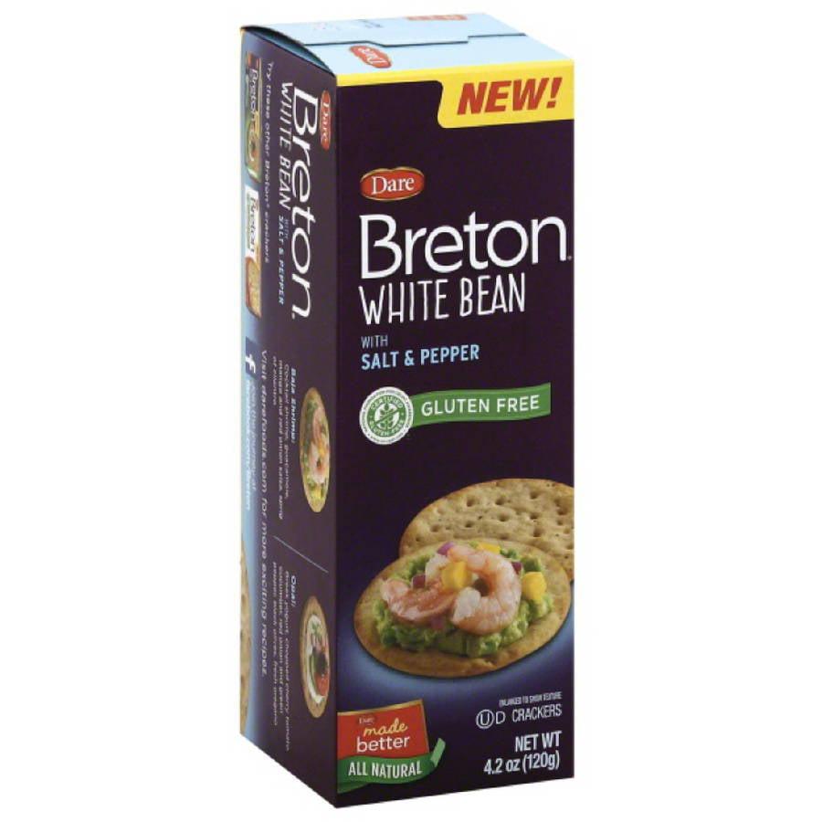 Dare Breton White Bean with Salt & Pepper Crackers, 4.2 oz, (Pack of 6)
