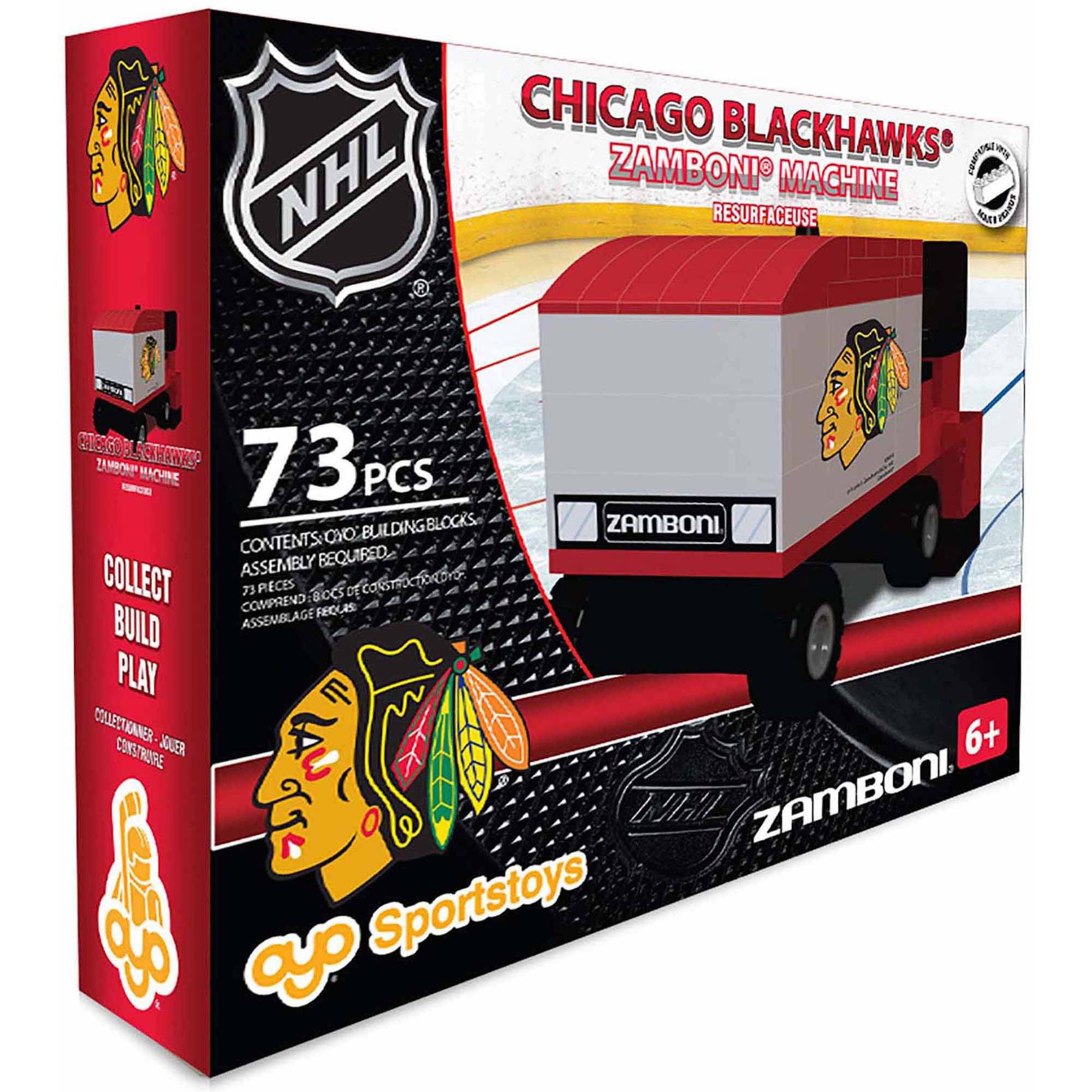 OYO Sports NHL 73-Piece Zamboni Building Block Set, Chicago Blackhawks