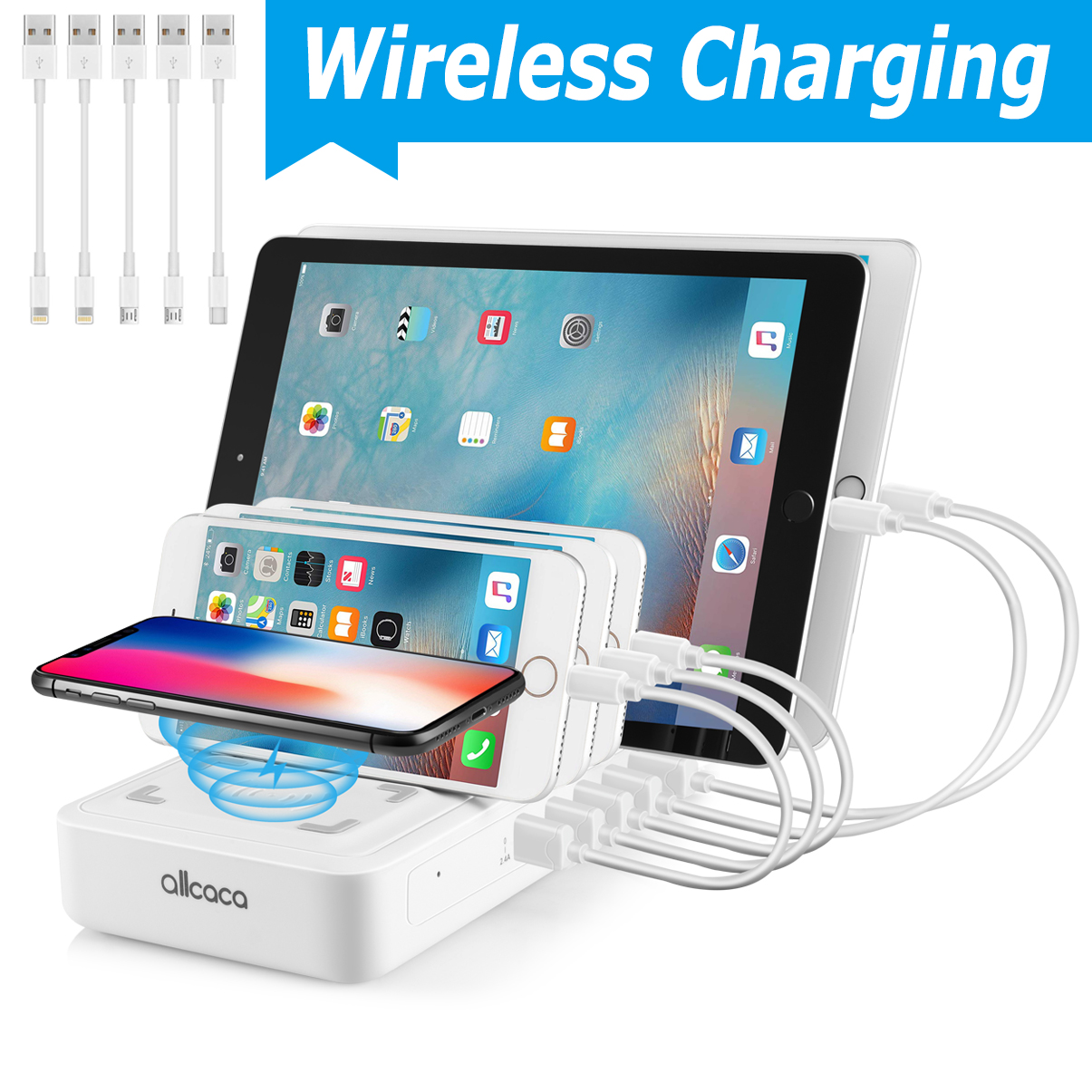 6 Port Usb Charging Station For Multiple Devices Fast