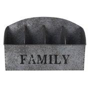 Cheungs Galvanized ''Family'' Recntagular Storage Caddy