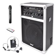 Pyle PWMA170 - Compact & Portable PA Speaker - Speaker Sound System with Micro Kit