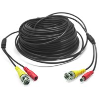 CableVantage Security Camera Cable Wire CCTV Video Power 100 FT 30M BNC RCA Cord DVR black
