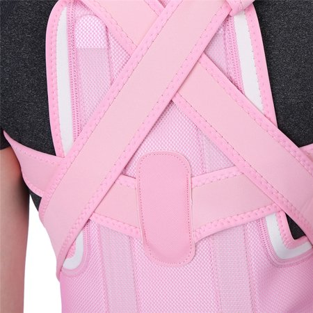 WALFRONT New Pink Back Shoulder Lumbar Waist Supporting Belt Bone Injury Correction Straighten Upper Back Slouching Corrective Prvent (M) - image 7 of 8