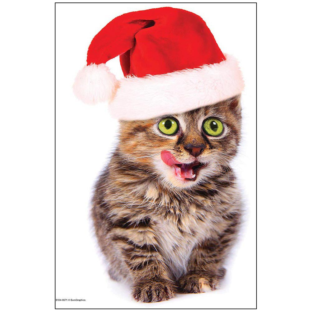 Holiday Kitten Mini 100 Piece Puzzle,  Kittens by Eurographics