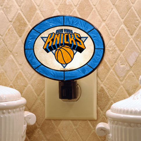 New York Knicks Art Glass Night Light