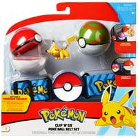 Pokmon Pok Ball Clip N Go Belt Set with 2 Inch Pikachu Figure