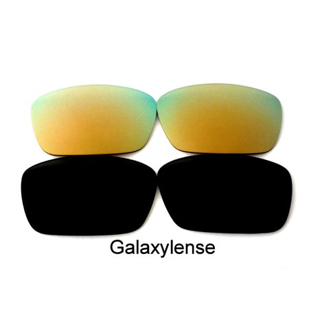 Galaxy Replacement Lenses for Oakley Fuel Cell Gold & Black