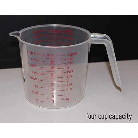 Clear Plastic Measuring Cup – 4-Cup Capacity for Measuring Cooking and Baking Ingredients