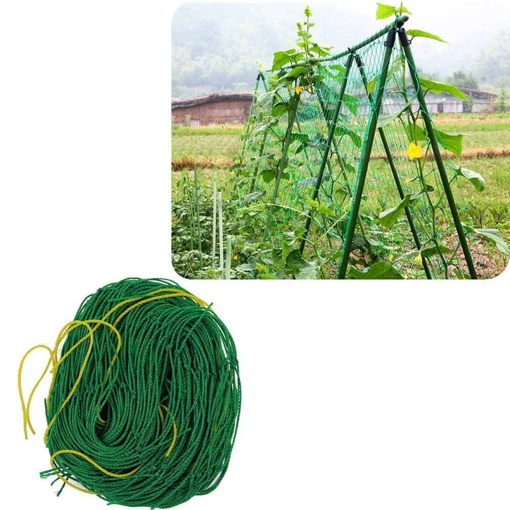 Agfabric Nylon Vine and Veggie Trellis Netting Plant Support 2.95'x5.9' by Wellco Industries Inc.