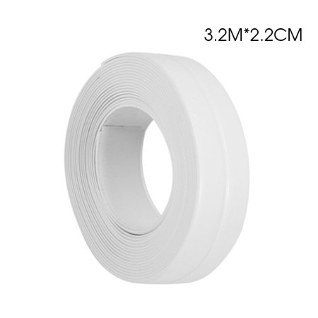 3.2m*22mm White Bath and Shower Self Adhesive Caulk Strip, Tub and Wall Sealing Tape Caulk Bathtub Sealer