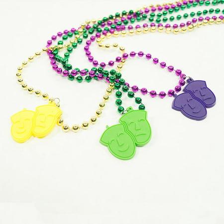 Mardi Gras Drama Mask Beads - Mardi Gras Mask Beads