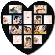 Adeco Trading 13 Opening Heart Collage Picture Frame