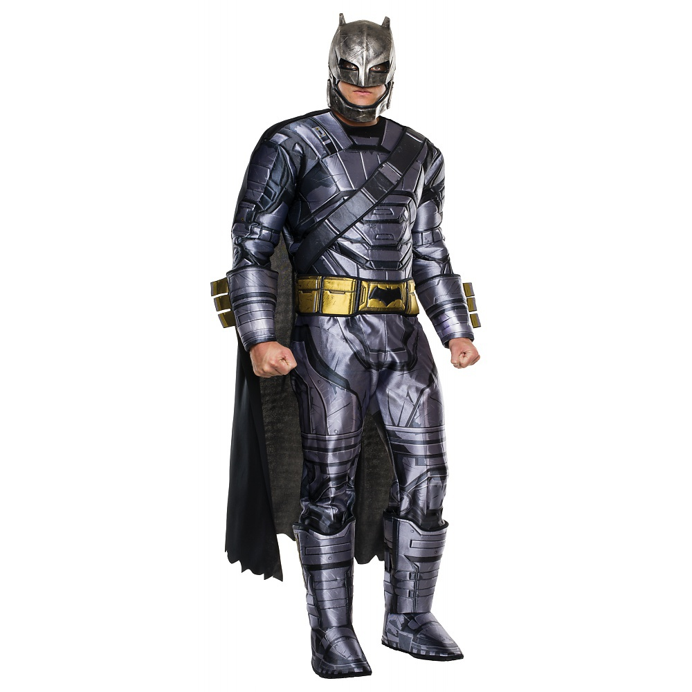 Batman Vs Superman: Dawn of Justice Deluxe Armored Batman Men's Adult Halloween Costume, One Size Fits Most