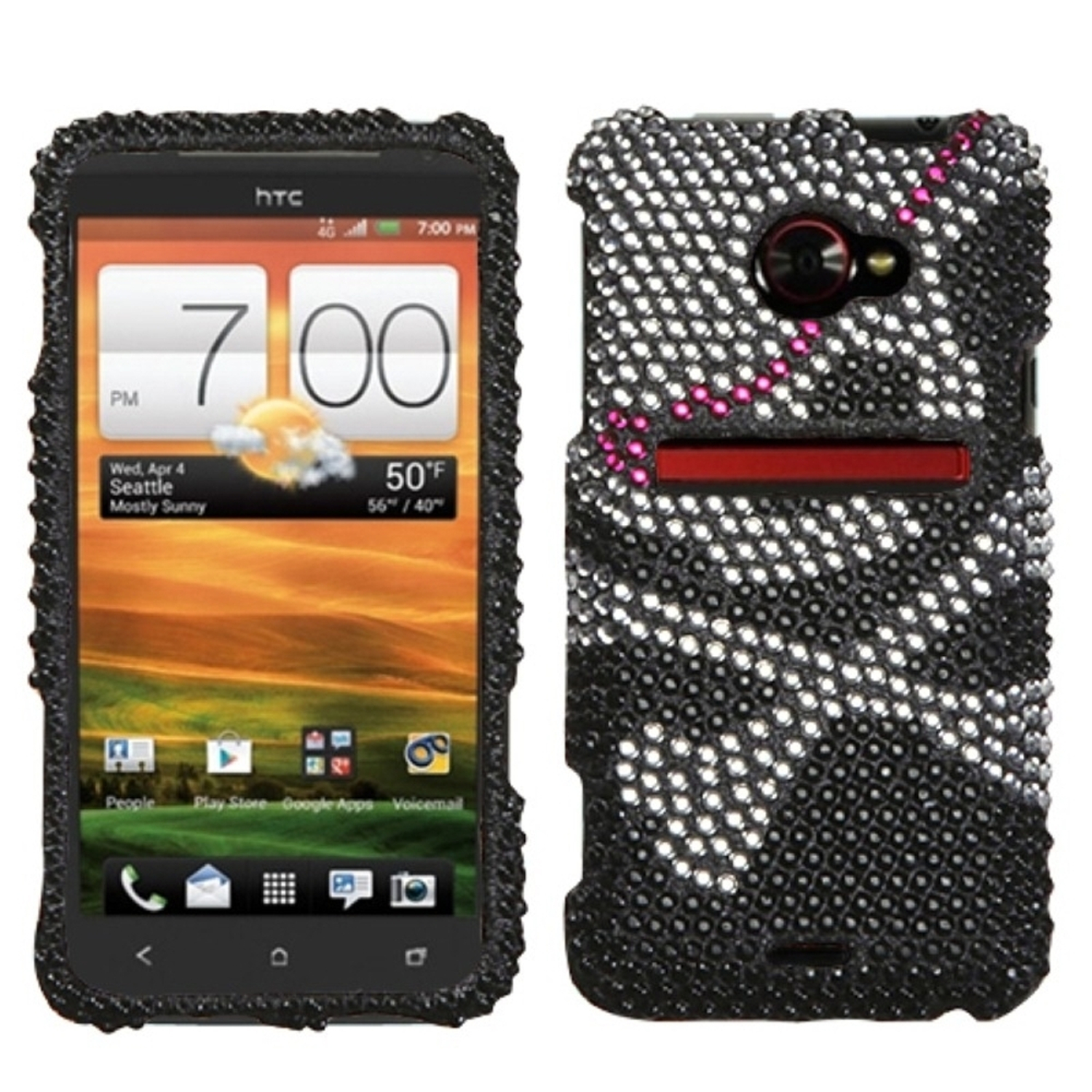 Insten Skull Diamante Case for HTC: EVO 4G LTE