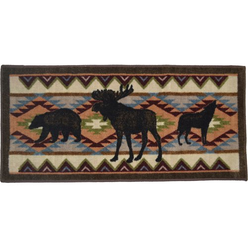 Mayberry Rug Cozy Cabin Woodland Party Kitchen Mat