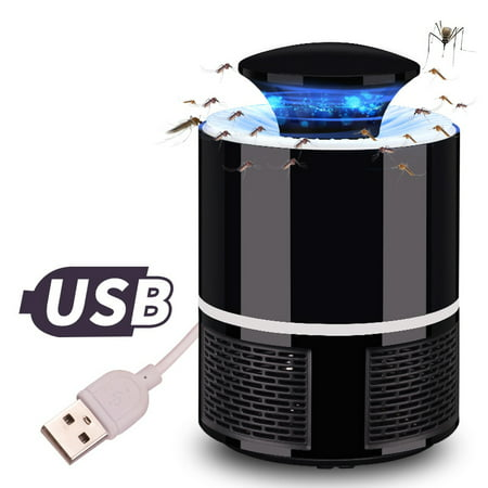 Home Safe USB Photocatalyst Electric LED Mosquito Insect Killer Repeller Lamp Fly Bug Repellent Zapper - image 3 of 7