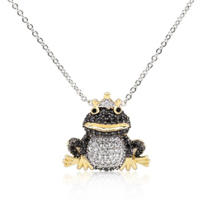 Kate Bissett P11393T-V01 CZ Frog Prince Pendant Necklace