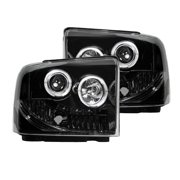 RECON 264193BK Ford Superduty For 05-07 F250/F350/F450/F550 PROJECTOR HEADLIGHTS