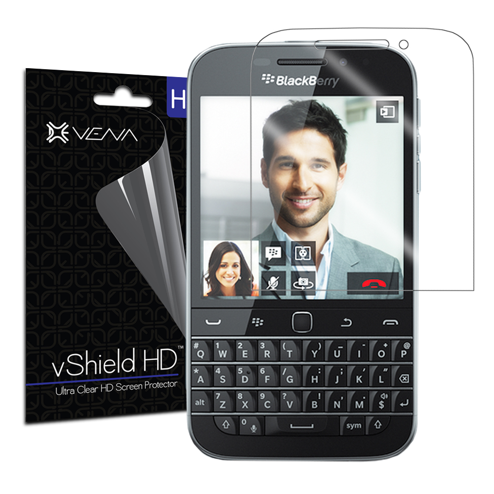 BlackBerry Classic / Q20 Screen Protector - Vena vShield [Ultra Clear HD] Anti-Scratch Shield (3 Pack)