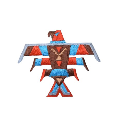 Thunderbird - Turquoise Indian - Bird Totem Pole - Iron on Applique/Embroidered Patch (T Birds Patch Grease)