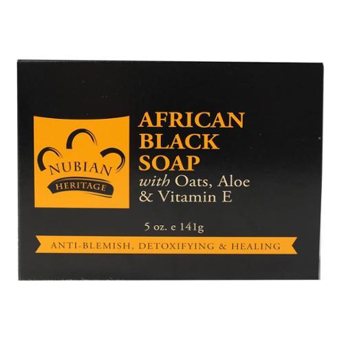 African Black Soap with Oats, Aloe & Vitamin E Nubian Heritage 5 oz Bar