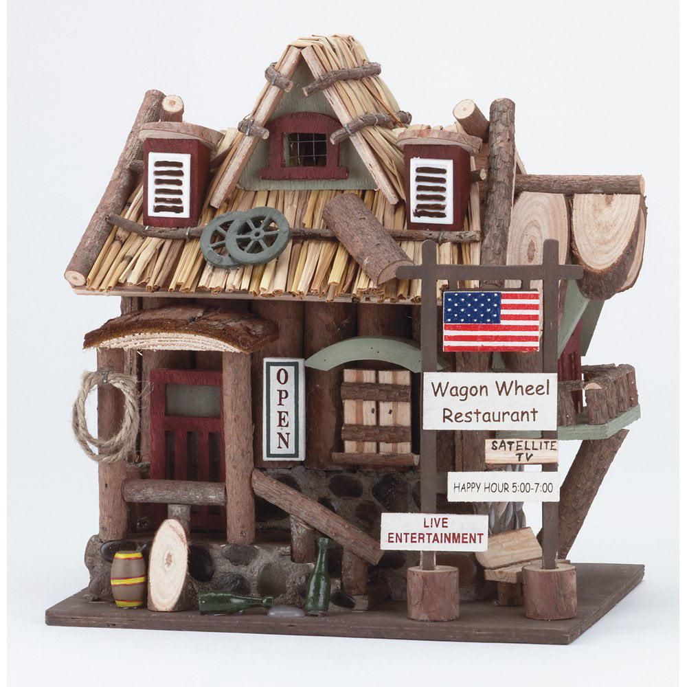 Wooden Birdhouses, Natural Cute Ornament Wooden Birdhouse Bulk by Songbird Valley