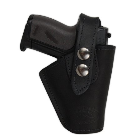 Barsony Right Black Leather OWB Holster Size 11 AMT Beretta Taurus NA Arms Ruger S&W Kahr Raven Jennings Mini 22 25 32