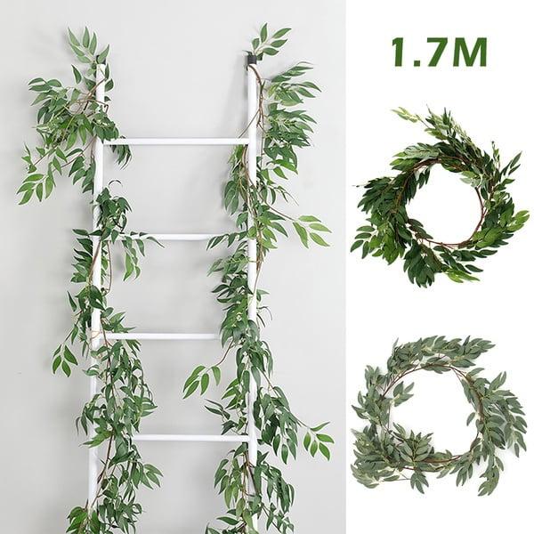 1.7M Artificial Eucalyptus Garland Plant Vine Fake Willow Hanging Wedding Wreath
