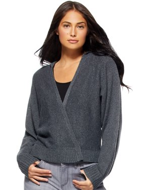 Sofia Jeans by Sofia Vergara Womens Cardigan Sweater with Hood
