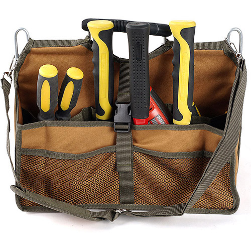 16 X 9-1/2 X13-1/2 Inch Soft Sided Tool Bag With Metal Bar Reinforcement