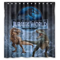 Product Image DEYOU Jurassic World Park Dinosaurs Shower Curtain Polyester Fabric Bathroom Size 66x72 Inch